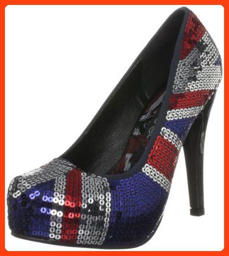 Iron Fist Multi Coloured Sequins Ladies Court Shoe Blue (36)-US(5) (*Partner Link)