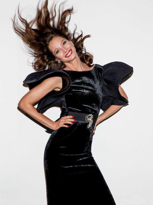 Supermodels Christy Turlington and Eva Herzigova for Vogue Paris April 2017 Issue