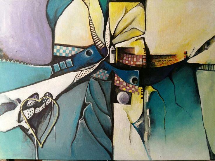 Acrílico abstracto Andrea franceschini pinturas