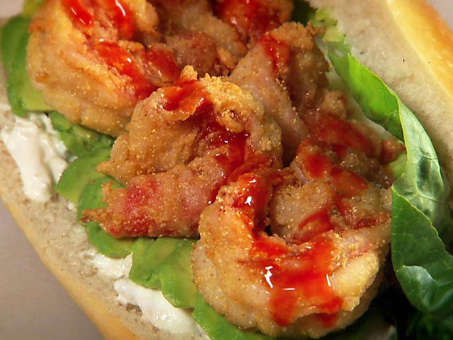 Crispy Tiger Prawn Sandwich Video : Food Network
