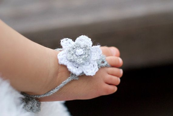 Baby ShoeBarefoot Baby, Baby Girls Barefoot Sandals, Baby Feet, Crochet, Baby Sandals, Adorable, Baby Barefoot Sandals, Flower Girls, Baby Shoes
