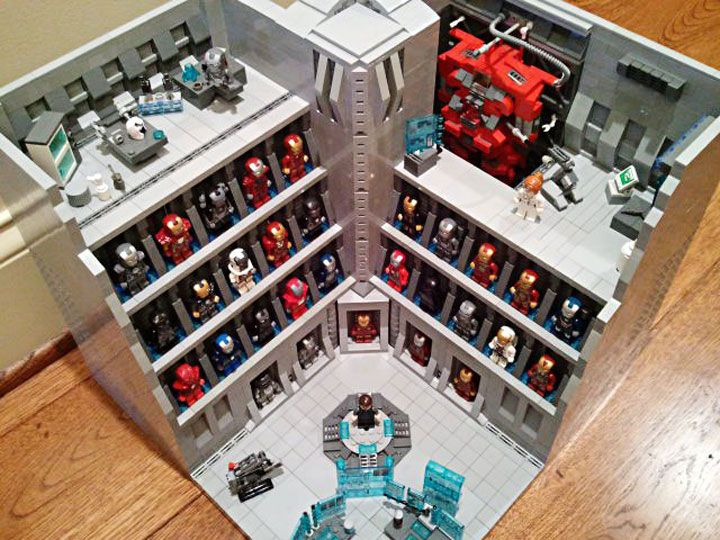 becauseBATMAN's Stark Industries Armory, Iron Man Hall of Armor