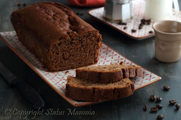 Facile e sofficissimo plumcake moka ricetta con caffè cioccolato fondente e ricotta soffice e irresistibile perfetto per la colazione e la merenda.