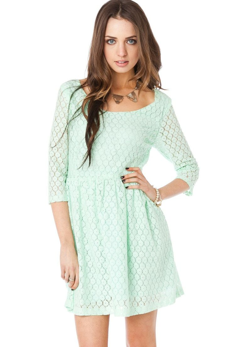 ShopSosie Style : Daisy Lace Sundress in Mint @Amber Perkins