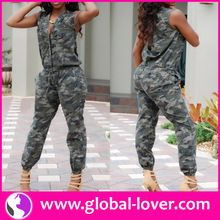 XL-XXXL Clothes Women Summer Jumpsuits Camouflag Army Jumpsuits