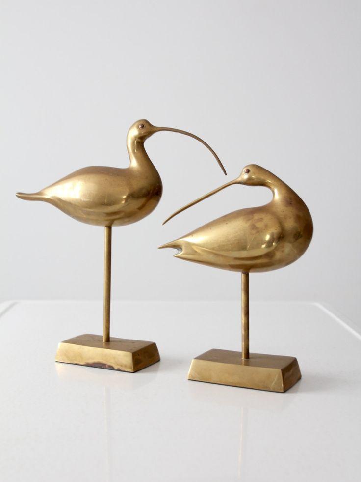 Mitte des Jahrhunderts Messing Vögel Ozean Vogel von 86home auf Etsy