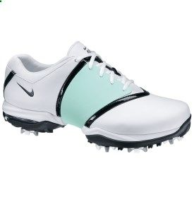 Nike golf shoes with a Tiffany blue band