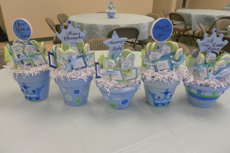 Prince Themed Baby Shower Centerpieces 2