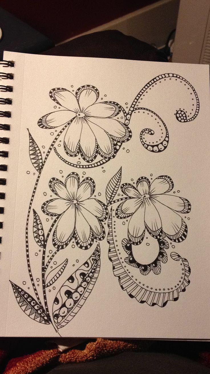 Zentangle ONDAS LIBRES [ZENTANGLES] - Garabatos, Dibujos