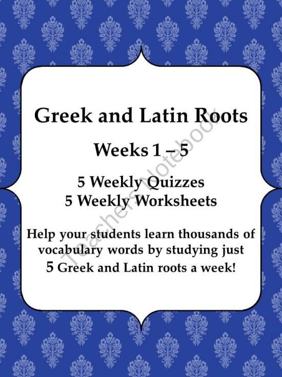 All Worksheets u00bb Latin And Greek Roots Worksheets - Printable Worksheets Guide for Children and ...