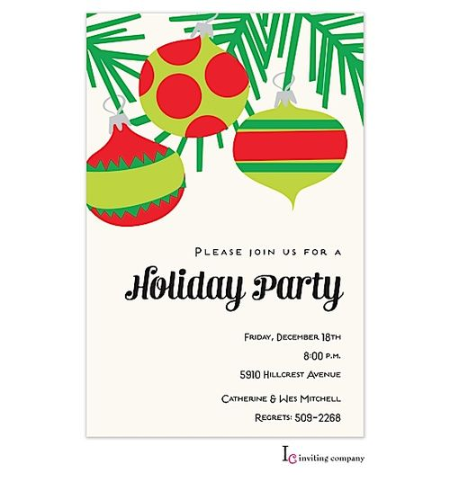34 best Ornament Exchange Party Invitations images – Xmas Party Invitations