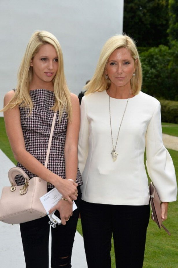 (L) Princess Maria Olympia of Greece with her mother Crown Princess Marie Chantal of Greece attend the Christian Dior show as part of Paris Fashion Week - Haute Couture Fall/Winter 2014-2015 on July 7th in Paris, France.