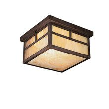View the Kichler 9825 2 Light Outdoor Ceiling Fixture from the La Mesa Collection for outside front stoop (1)