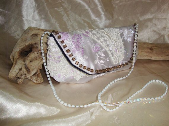 Lacey embellished pink Bag by OneGoldenCloud on Etsy