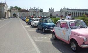 partenza pre tappa Fiat 500 alla conquista del Friuli 2012: io c'ero!