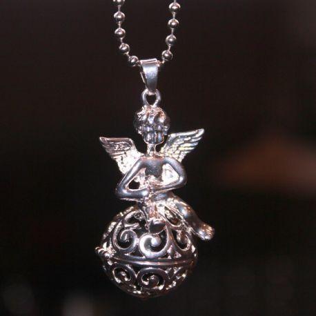 Engelenroeper 16mm bol engel zilver € 7,95