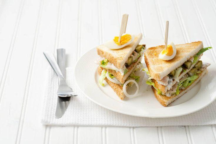 Clubsandwich met forelsalade - Recept - Allerhande