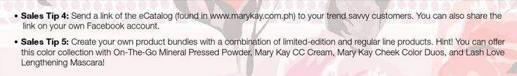 #ClippedOnIssuu from February 2016 Applause Magazine Mary Kay Philippines Selling Tips 1-4