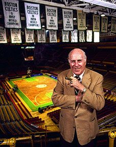 Red Auerbach of the Boston Celtics: I had the honor of speaking with this man on several occasions during my internship with the Boston Celtics.