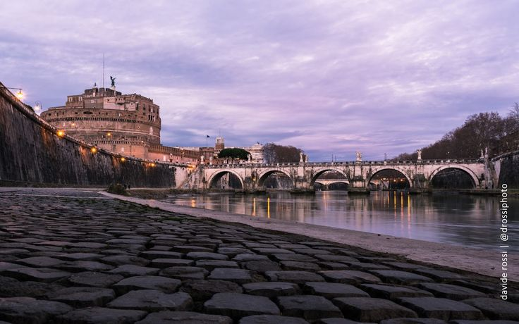 Roma - historical building a the tiber river