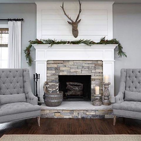 Hi friends... Thanks for your sweet words regarding my last post!  My friend, Meg @countryhillsidehomestead had perfect timing when she tagged me to share for #simplystunningsundays!  I'm excited to share this gorgeous fireplace belonging to Emily @awelldressedhomellc as my inspiration for our new living room... Isn't it stunning?  I cannot wait to have our own version of this in a few short weeks!  Hope you have a great week!  #livingroominspo