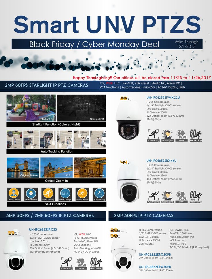 Cool Black Friday Deal.   Real Deal of Uniview IP PTZ Cameras. Starlight 60fps Auto Tracking PTZ.    #2017BlackFriday, #securingtheworld, #easterncctv, #uniview, #unvipptzs, #3mp60fps, #autotracking, #60fpsrecording