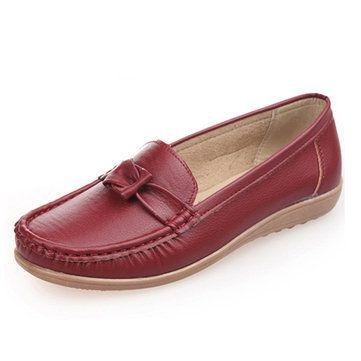 Свободный Узел Удобная мягкая подошва плоские туфли