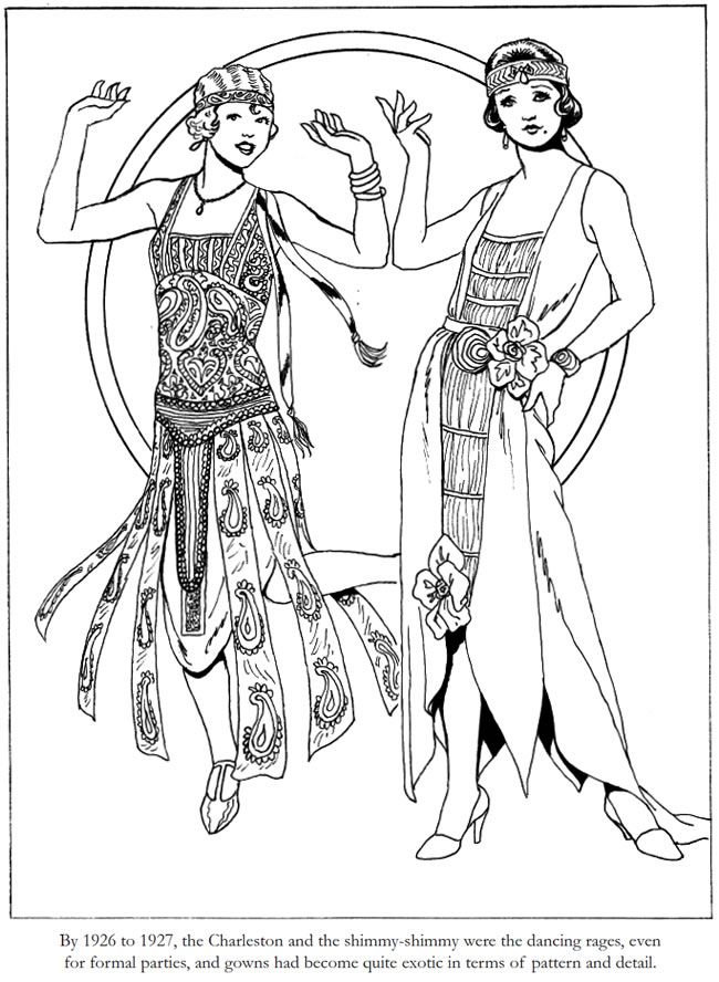 coloring pages 1920s - photo#1