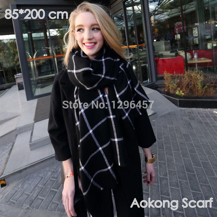 Za Winter Scarf Knit 2015 Oversize Tartan Scarf Desigual Plaid Scarf Women Bandana New Designer Acrylic Blanket Scarves Shawl-in Scarves from Women's Clothing & Accessories on Aliexpress.com | Alibaba Group