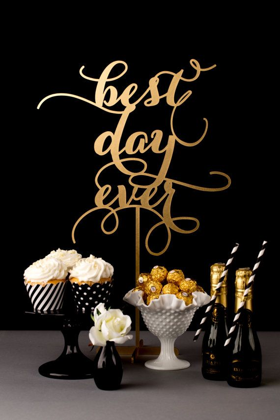 Wedding Table Sign Best Day Ever by BetterOffWed on Etsy, $75.00