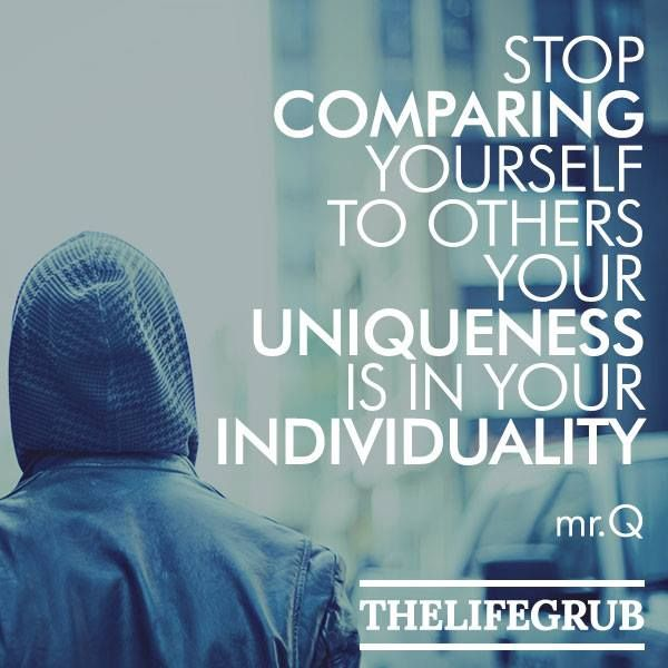 But don't compare yourself with others. We each must carry our own load. Galatians 5:4-5