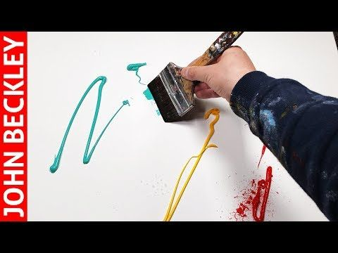 Abstract Painting Demonstration With Masking Tape …