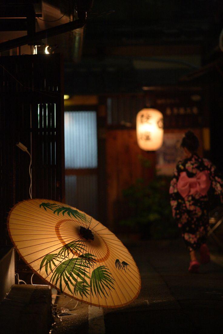 Japanese umbrella: photo by mptfk