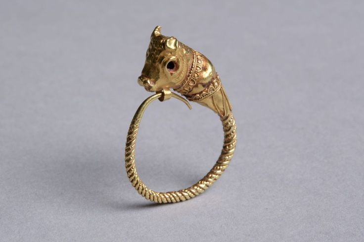 Ancient Greek Cypriot Gold Bull Earring - 350 BC