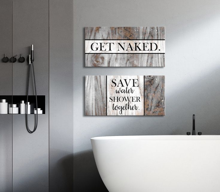 Bathroom Wall Art: 2 Piece Funny Bathroom Wall Art Set