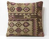 cream cushion cover 18x18 western pillow cover kilim pillow designer rug pillow DECOLIC toss pillow cover 45x45 brown cushion cover 16044