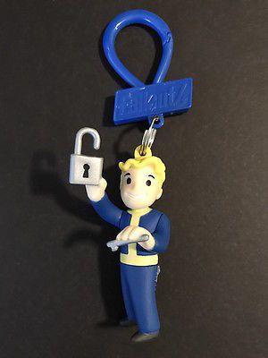 Fallout 4 Vault Boy LOCK PICK Key Ring Backpack Hanger Clip Figure Blind Bag
