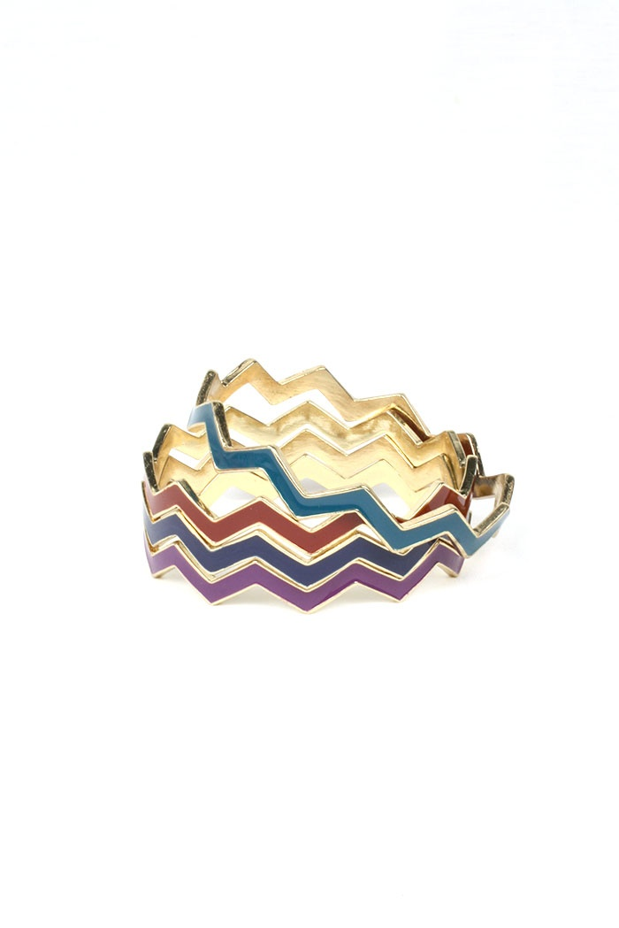 Colorful Chevron Bangles $14 on www.bytherapy.com