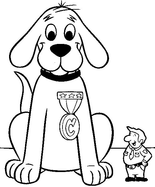 image to use for puppet bag Clifford the big red dog