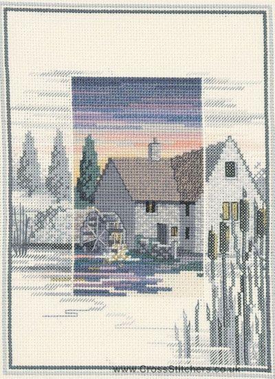 Water Mill - Sunsets - Cross Stitch Kit by Derwentwater Designs