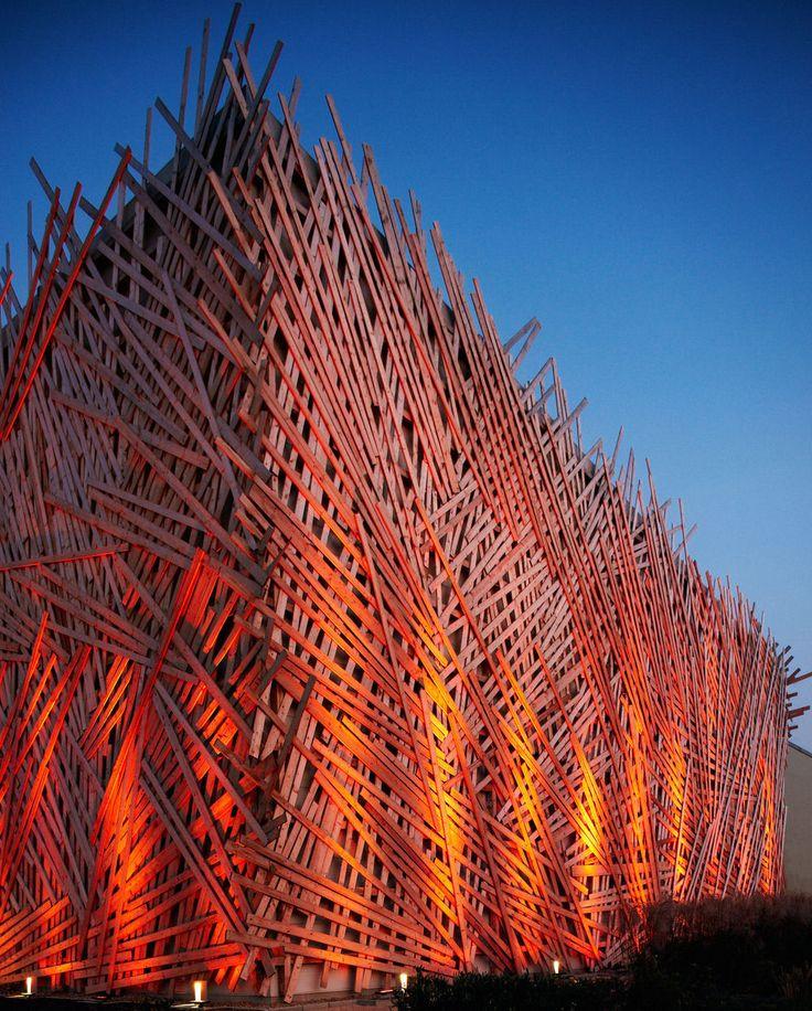 The Golf Club Hostivar in Prague, Czech Republic - made of toothpicks?