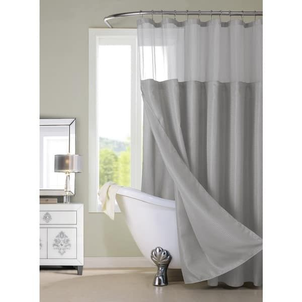 Hotel Shower Curtain with Detachable Liner
