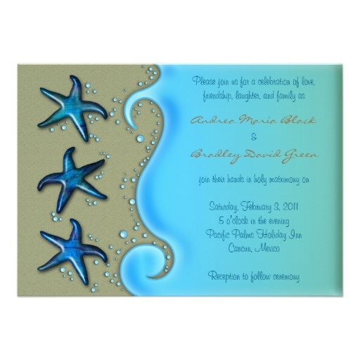 26 best Starfish Wedding Invitations images on Pinterest Beach