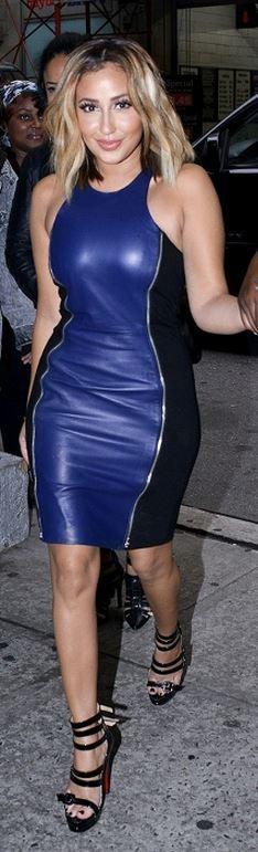 Adrienne Bailon: Dress – Rebecca Minkoff  Shoes- Christian Louboutin