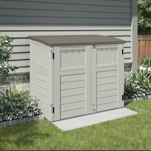 Suncast Storage Shed Patio Cabinet Garage Organizer Resin Deck Outdoor 2.7x4.5ft - http://home-garden.goshoppins.com/yard-garden-outdoor-living/suncast-storage-shed-patio-cabinet-garage-organizer-resin-deck-outdoor-2-7x4-5ft/