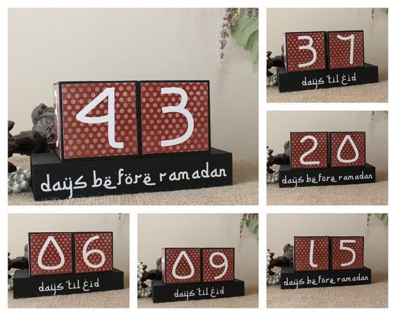 Countdown to Ramadan Days 'til Eid Wooden by TimelessNotion