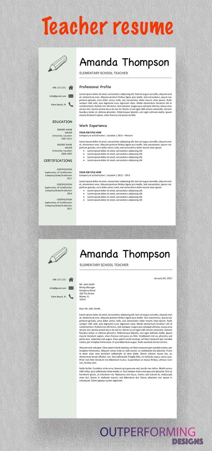 teacher resume template amanda thompson | pinterest | teacher resume