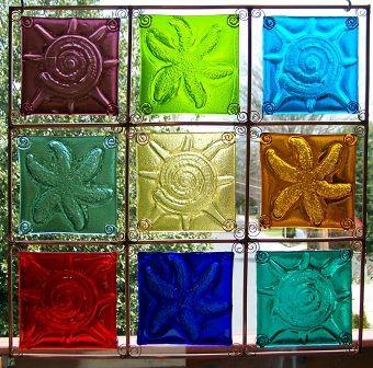 Shell tile window-Connie Ballato: Artistic Glass, Fused Glass, Glass Projects, Glass Ideas, Glass Inspirations