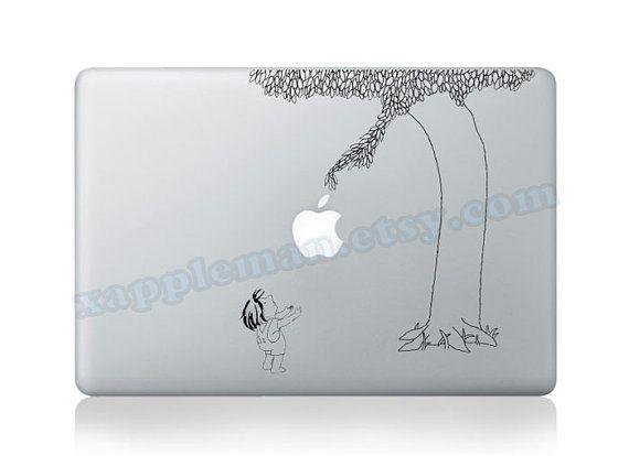 Tree Sticker - Mac Decal Macbook Stickers Macbook Decals Apple Sticker for Macbook Pro/ Macbook Air/ iPad/ iPad2/ New iPad/ iPad 4 via Etsy