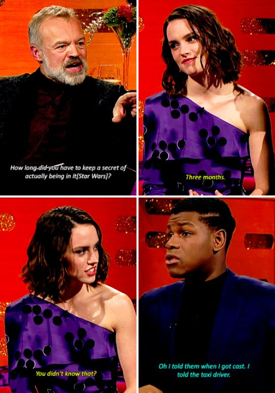 "When John Boyega revealed that instead of keeping his Star Wars casting a secret, he told everyone, including his taxi driver. | 23 Of The Best Things To Ever Happen On ""The Graham Norton Show"""